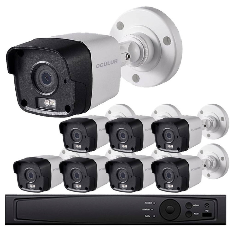Gas Station Security Camera System - 8-Camera, 1080p HD Resolution, Wide Angle Field of View, 65ft. Night Vision, Weatherproof, 3-yr warranty