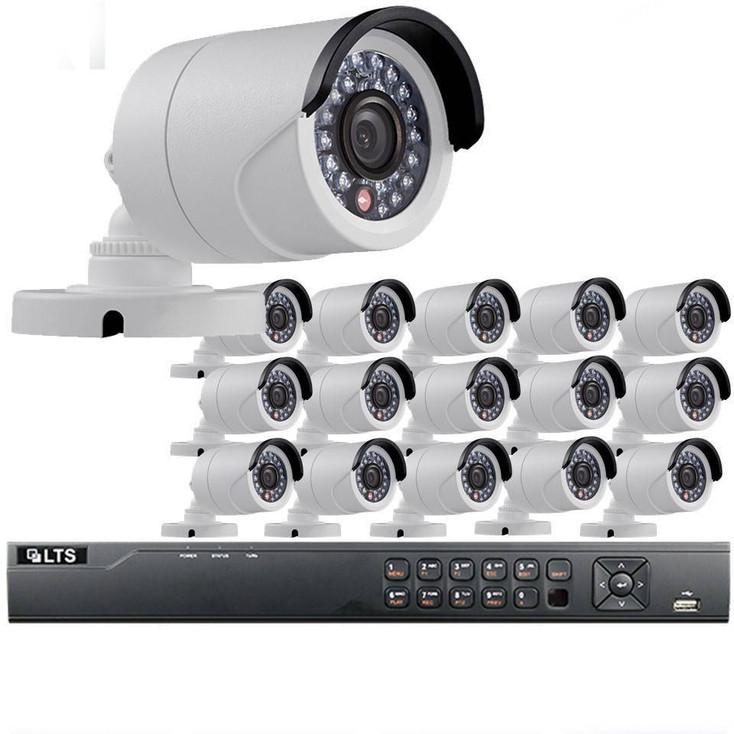 16-Camera 720p Bullet HD CCTV Security Camera System - 1MP Sensor, 3.6mm Lens, Day/Night, Weatherproof, 3TB Pre-Installed, LTD08161RK-3TB