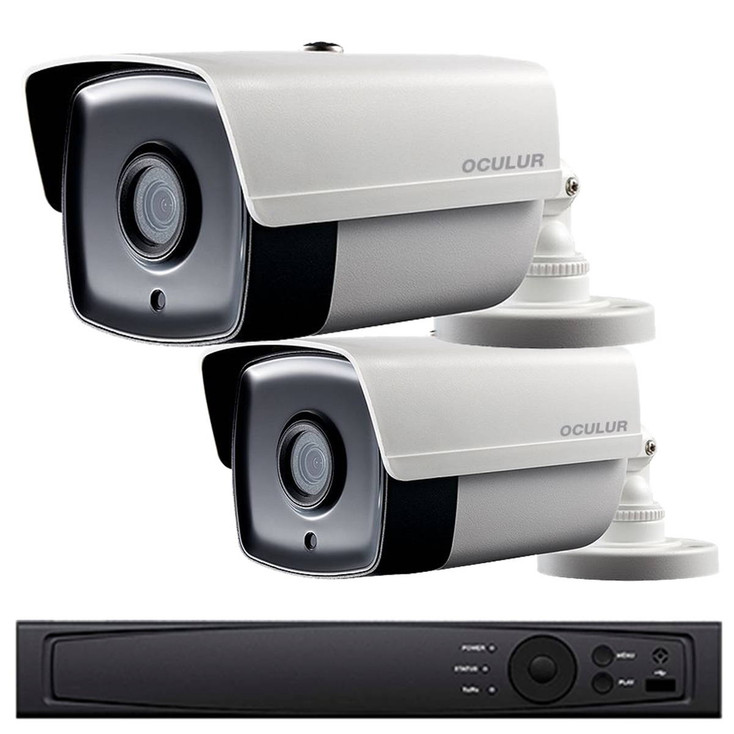 2-Camera 1080p Full HD Bullet CCTV Security Camera System - 2MP, 2.8mm Lens, Day/Night, Weatherproof, 1TB Pre-Installed, LTD0422RK-1TB