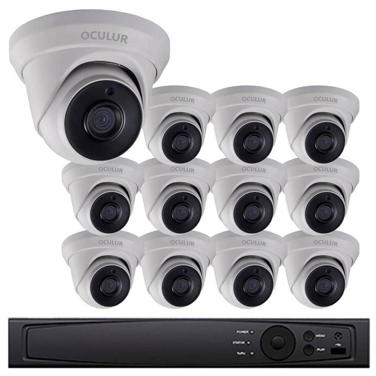 12-Camera 1080p Full HD CCTV Turret CCTV Security Camera System - 2.8mm Lens, True WDR, Night Vision, Weatherproof, LTD8312-D2M