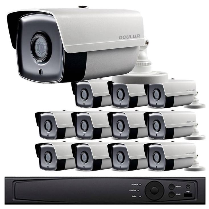 12-Camera 1080p Full HD CCTV Bullet CCTV Security Camera System - 2.8mm Lens, Night Vision, True WDR, Weatherproof, LTD8312-B2W