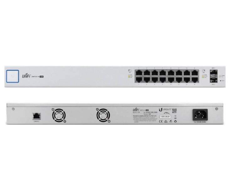 Ubiquiti US-16-150W 16-Port Managed PoE+ Gigabit Switch with SFP