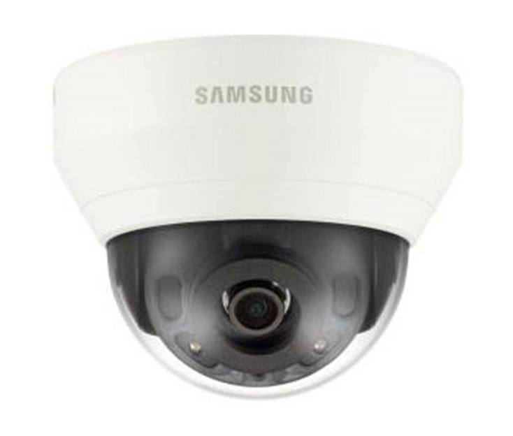 "Samsung QND-7010R 4MP IR Indoor Dome IP Security Camera - 2.8mm Fixed Lens, 1/3"" CMOS, 1080P, H.265, 120dB WDR, 65ft IR, True D/N"