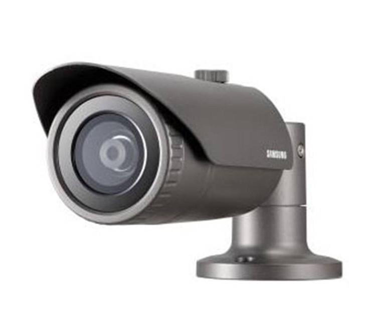Samsung QNO-6030R 2MP IR H.265 Outdoor Bullet IP Security Camera - 6mm Fixed Lens