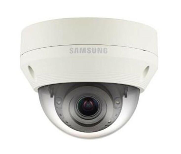 Samsung QNV-6020R 2MP IR Outdoor Dome IP Security Camera - 3.6mm Fixed Lens, H.265, 30fps at 1080P, 120dB WDR, Weatherproof, Vandal Proof