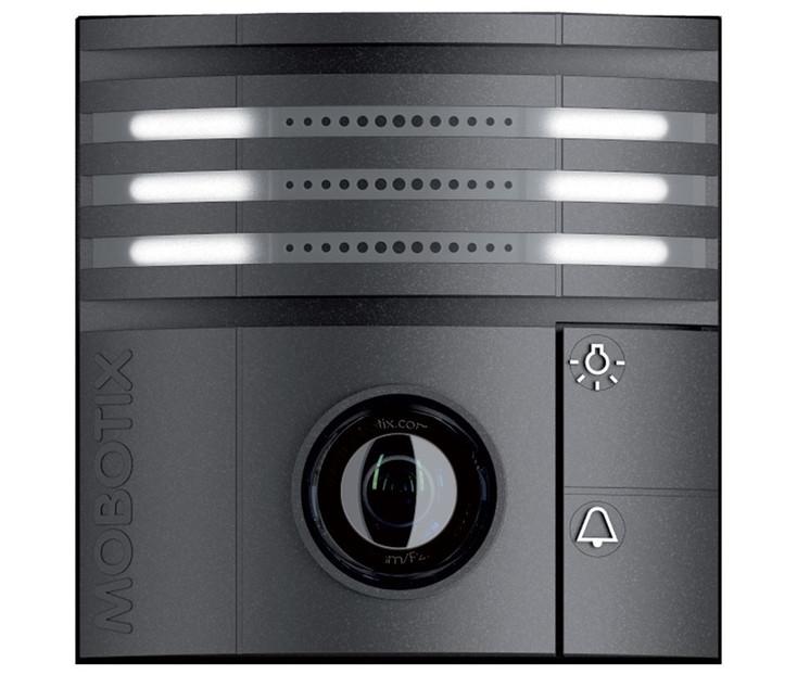 Mobotix MX-T25-N016-B 6MP Indoor/Outdoor IP Video Door Station - 1.6mm Fixed Lens, Night, vPTZ, Speaker and Microphone, Weatherproof, Black