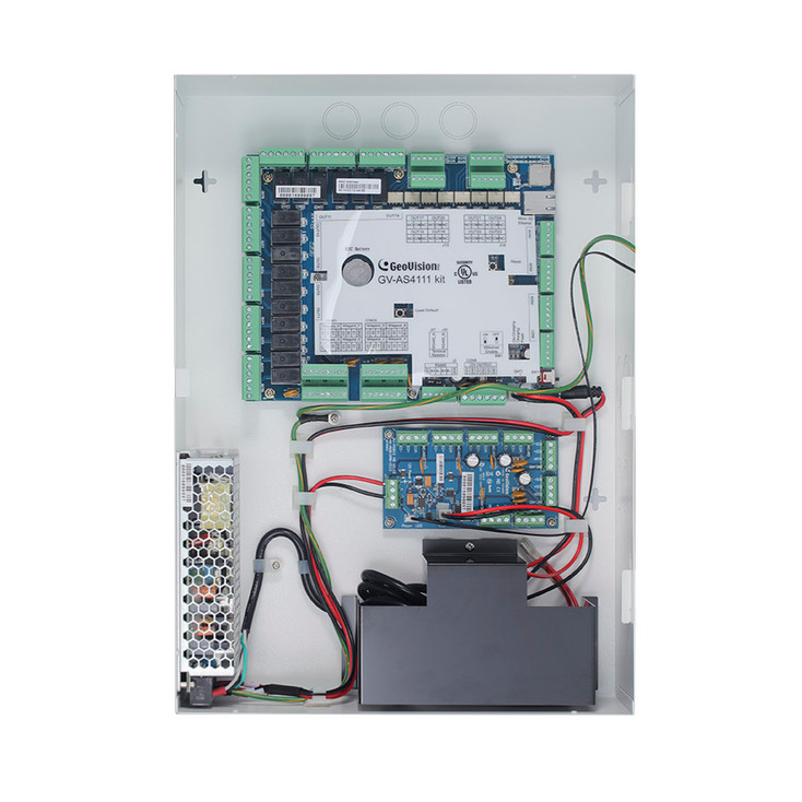 Geovision GV-AS4111 Kit - 4 Door Access Controller Kit with Power Supply and Iron Case