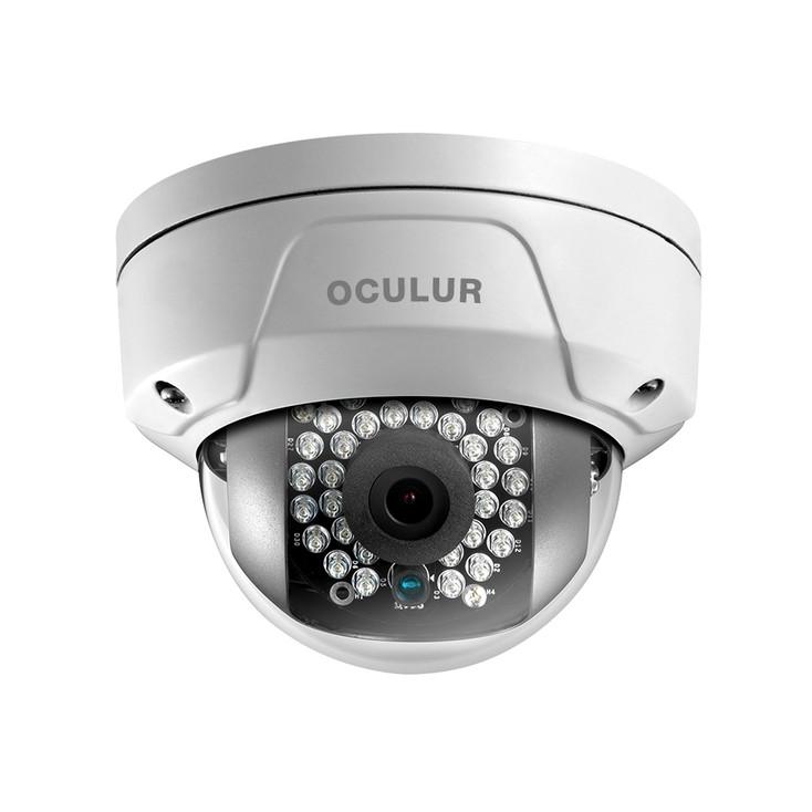 Oculur X4DF4 4MP IR Outdoor Mini Dome IP Security Camera - 4mm Fixed Lens