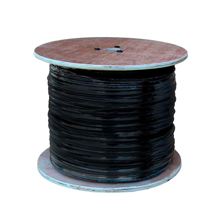 LTS LTAC2030B 500ft Coaxial Siamese Cable w/o Connectors - Black