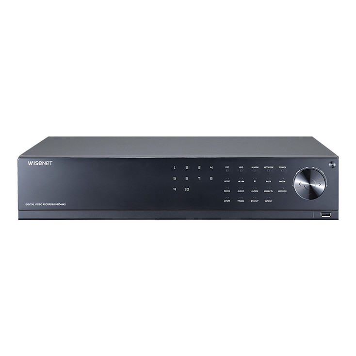 Samsung HRD-842-12TB 8CH 4M Analog HD DVR Digital Video Recorder - 12TB HDD included