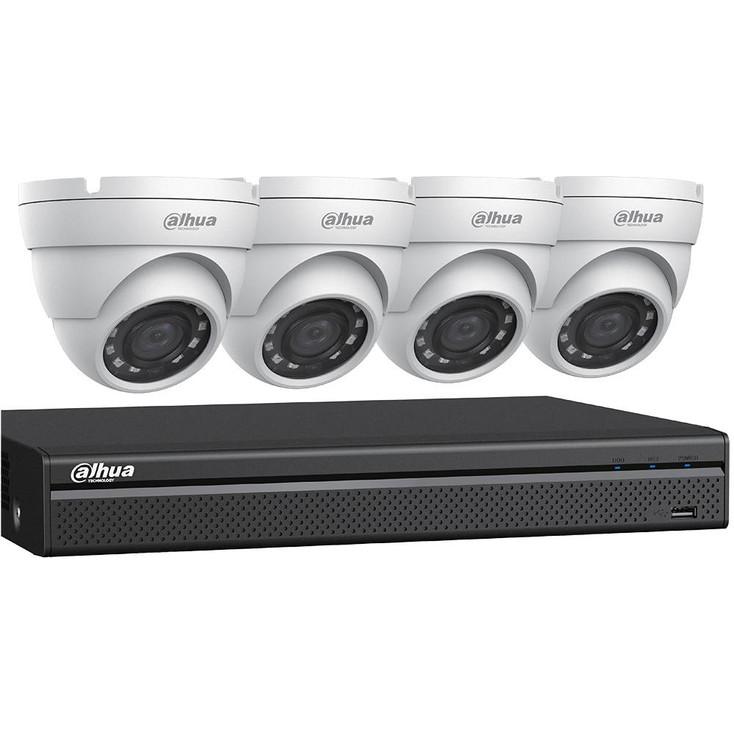 Dahua C544E42 HD-CVI Security System, 4 Camera, Outdoor, 4MP, 2TB Storage, Night Vision
