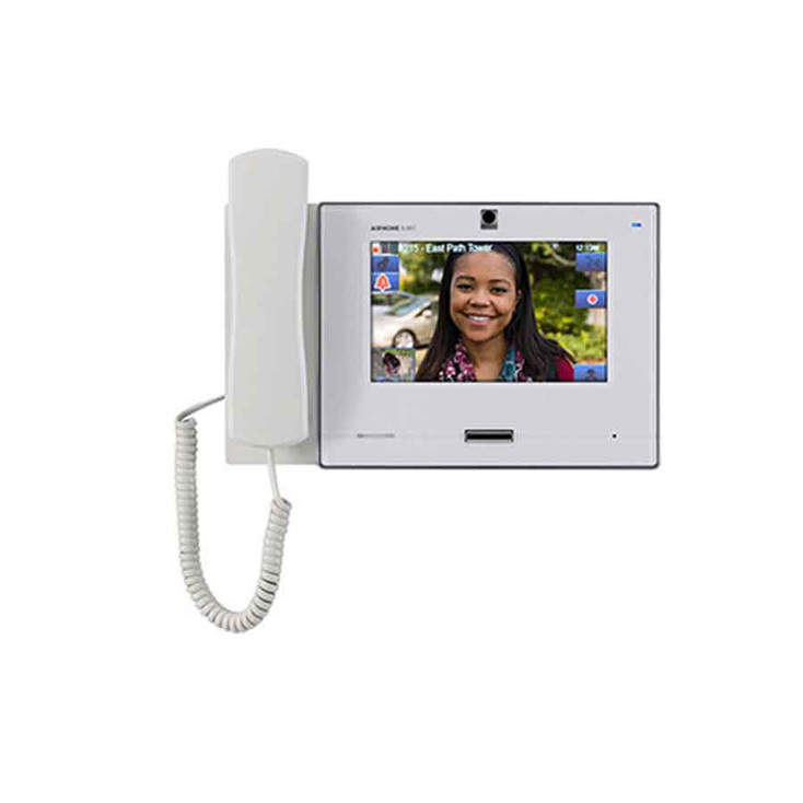 """Aiphone IX-MV7-HW SIP Compatible IP Video Master Station - 7"""" Touchscreen and Privacy Handset (White)"""