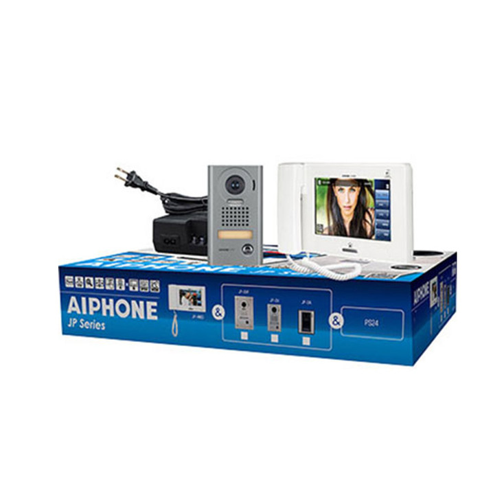 "Aiphone JPS-4AEDV 7"" Touchscreen Vandal Video Intercom Set (JP-DV, JP-4MED, PS-2420UL)"