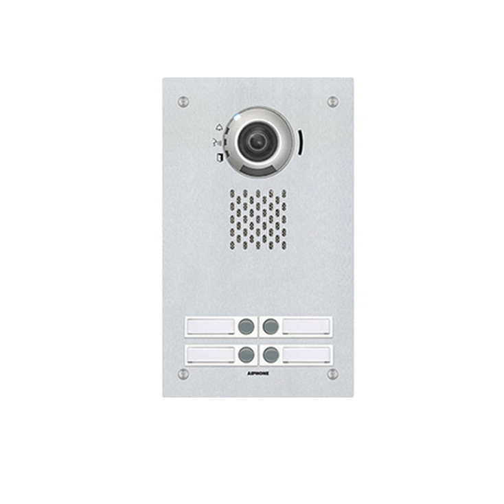 Aiphone IX-DVF-4 4 Button SIP Compatible Flush Mounted IP Video Door Station - Vandal Resistant Stainless Steel Faceplate