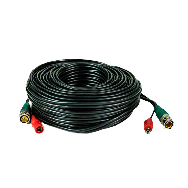 LTS LTAC2100B Pre-made Siamese Cable with Connectors - 100ft Black