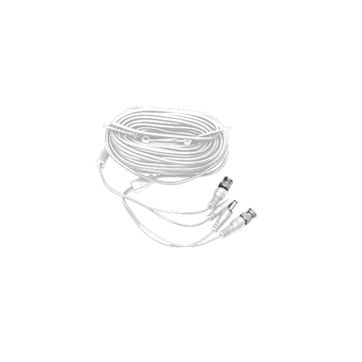 LTS LTAC2100W Pre-made Siamese Cable with Connectors - 100ft White