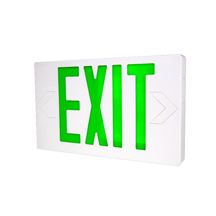 LTS LTEL002G LED Exit w/ Battery Backup Green Letters 120/277V