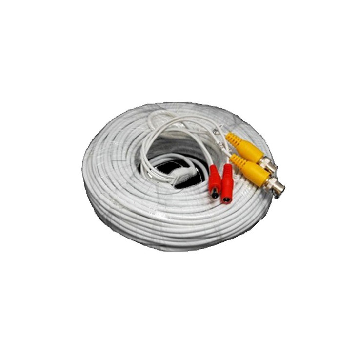 LTS LTAC2125W Pre-made Siamese Cable with Connectors - 125ft White