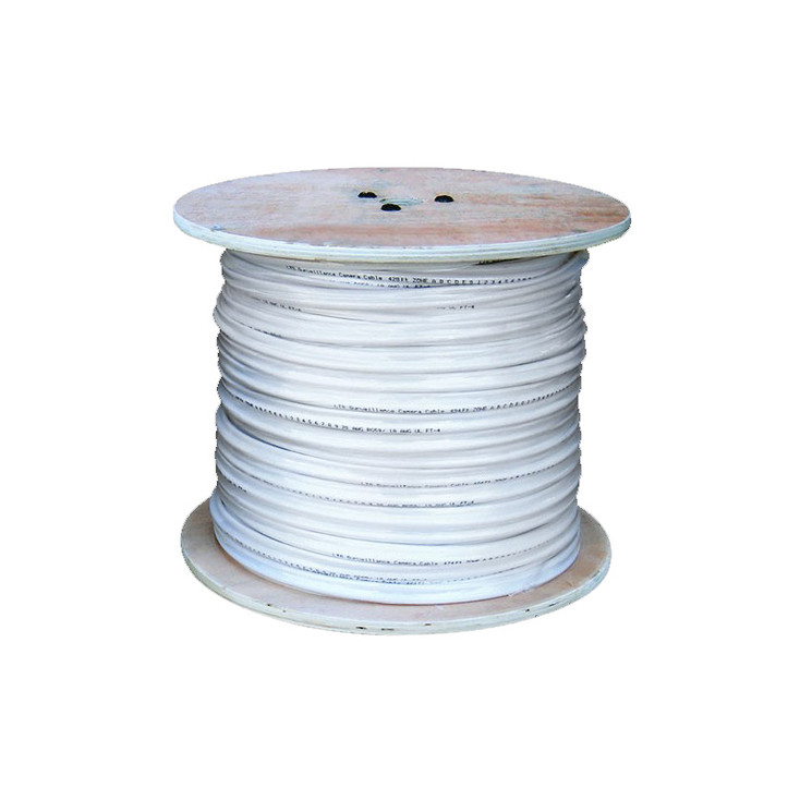 LTS LTAC2032W Coaxial Siamese Cable w/o Connectors - 1000ft White