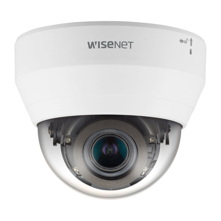 Samsung QND-6082R 2MP IR H.265 Indoor Dome IP Security Camera with Motorized Lens