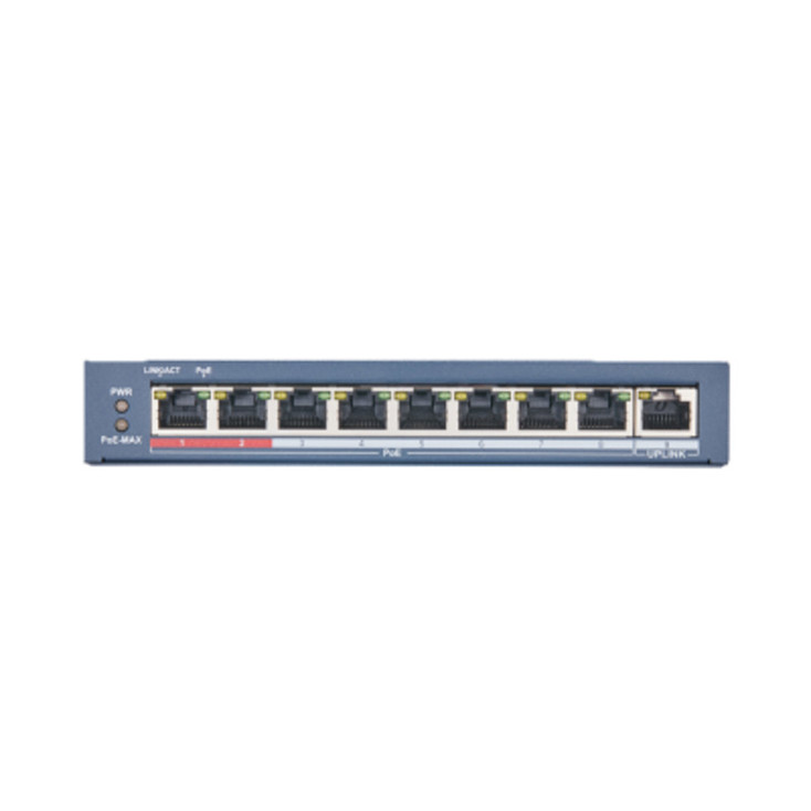 LTS 8 PoE Port Switch with 1 Port Uplink