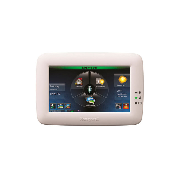 Honeywell TUXWIFIW Tuxedo Touchscreen Security Keypad and Controller with Integrated Wi-Fi White