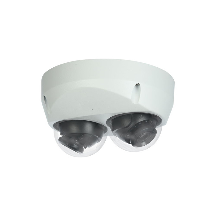 LTS LTDHIP39222W-28ISM 2x2MP IR Dual Lens Mini Dome IP Security Camera with Built-in Microphone