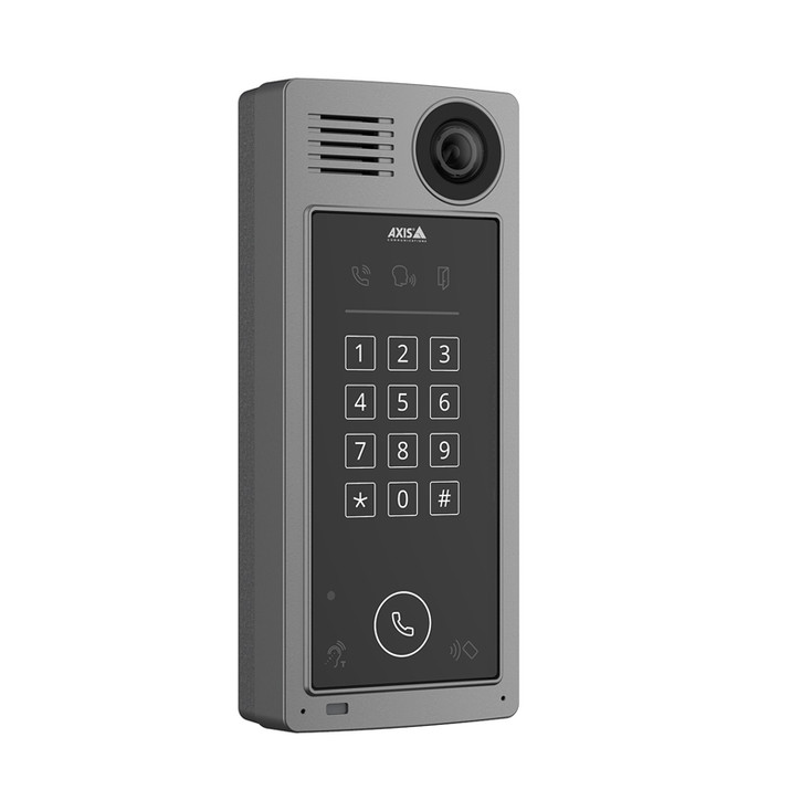 AXIS A8207-VE Mk II Network Video Door Station with Camera, Keypad and Card Reader  02026-001