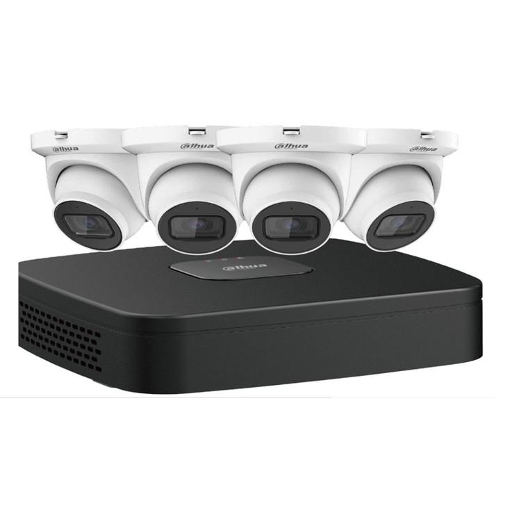 Dahua N444E42S IP Security Camera System, 4 Camera, Outdoor, 4MP, 2TB Storage, Night Vision