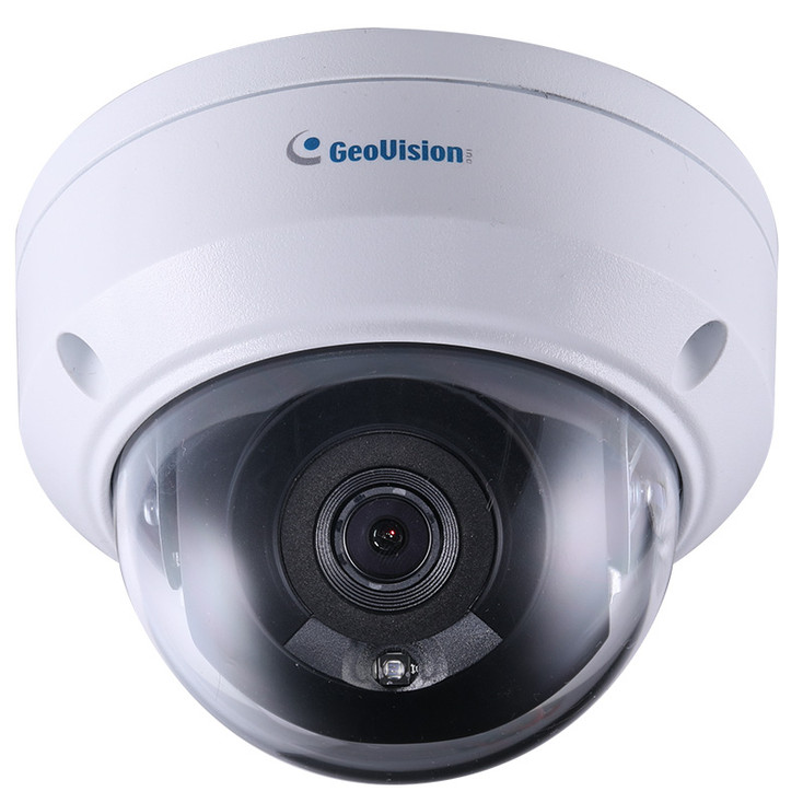 Geovision GV-TDR2702-1F 2MP IR H.265 Outdoor Mini Dome IP Security Camera with 4mm Fixed Lens