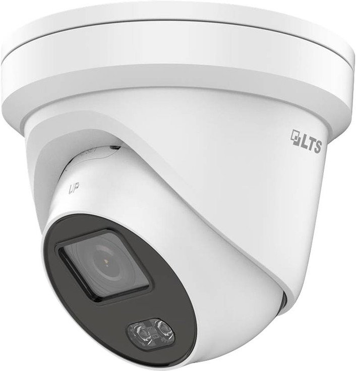 LTS CMIP3C42W-28M 4MP H.265+ Color247 Outdoor Turret IP Security Camera with 2.8mm Fixed Lens