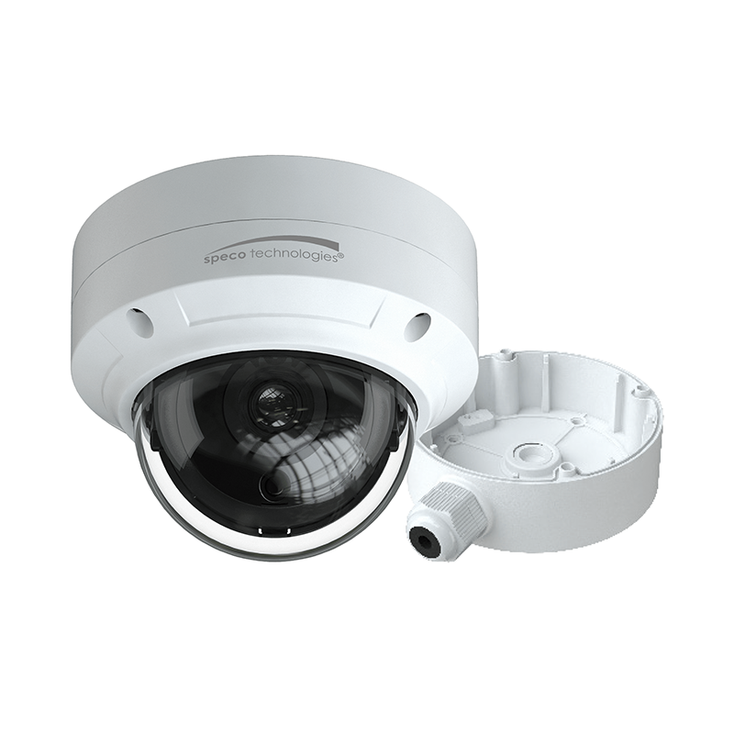 Speco O4D6 4MP H.265 Outdoor Dome IP Security Camera with Advanced Analytics