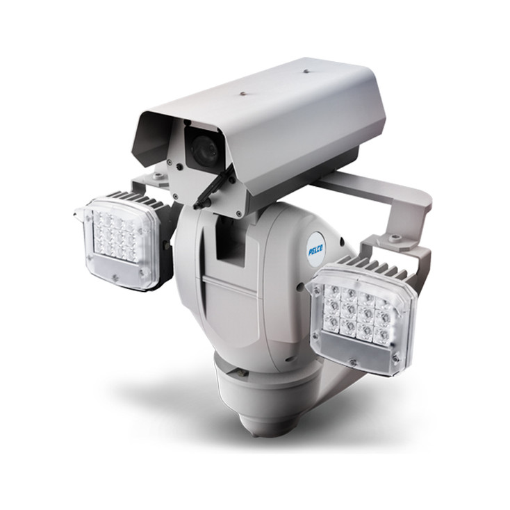 Pelco ES6230-12-RWUS 2MP IR Outdoor PTZ IP Security Camera with Wiper, 48VDC, White Light