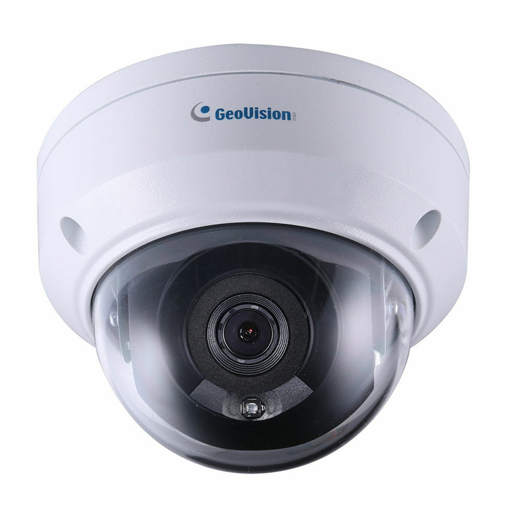 Geovision GV-TDR2700-0F 2MP IR H.265 Outdoor Mini Dome IP Security Camera with 2.8mm Fixed Lens