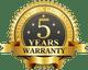 5-years-warranty-gold