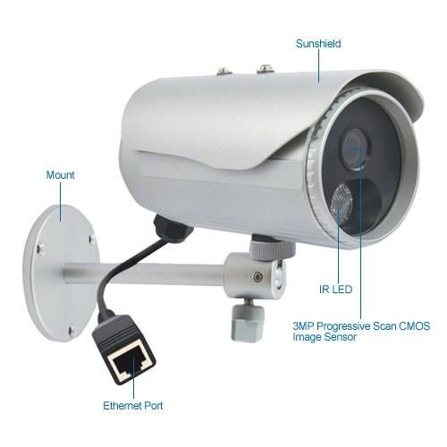 acti d32 3 megapixel ir day/night ip security camera