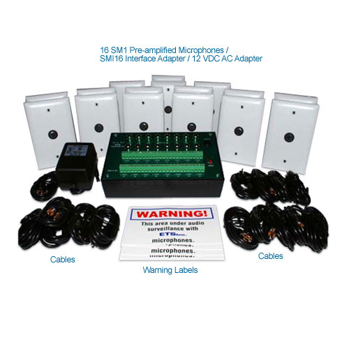 ets smi-17 16 zone audio surveillance kit