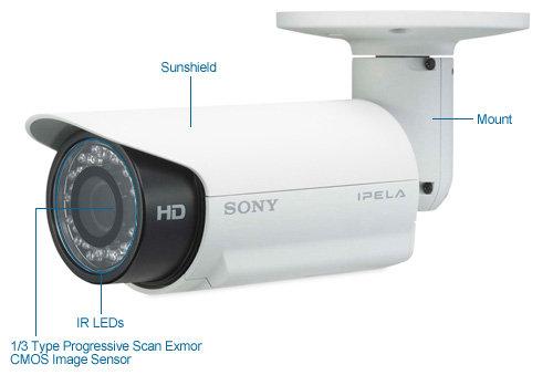 sony snc-ch160 720p hd ir day/night bullet security camera