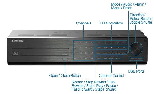 samsung srd-1673d-2tb 16ch digital video recorder - 960h at 30 fps, 2tb