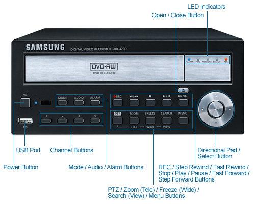 samsung srd-470d 4-camera 1tb dvr 120fps @ d1