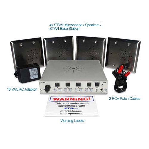 ets stw7 four zone 2 way audio surveillance kit