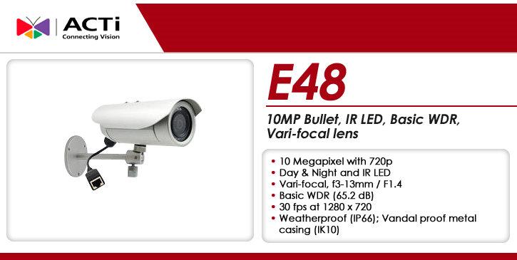 acti e48 10mp outdoor ir bullet ip security camera