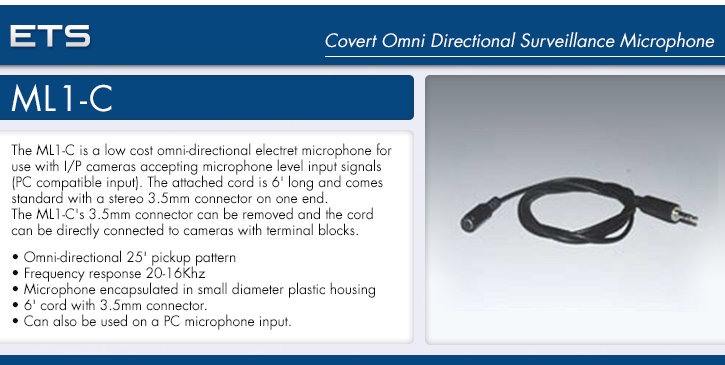 ets ml1-c covert omni directional surveillance microphone