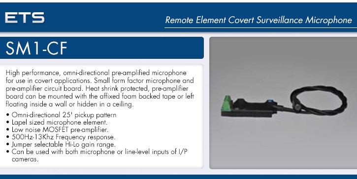 ets sm1-cf remote element covert surveillance microphone