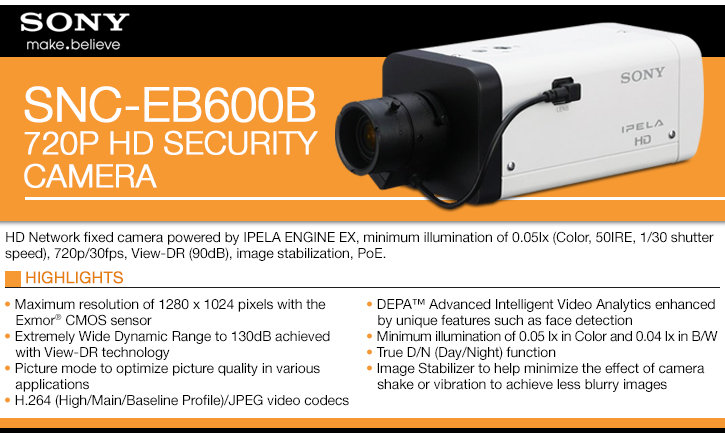 sony snc-eb600 720p hd ip security camera - view-dr