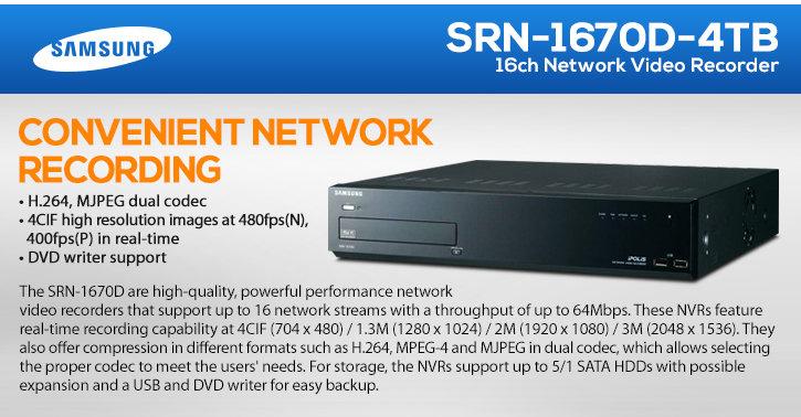 samsung srn-1670d 16ch 4tb network video recorder