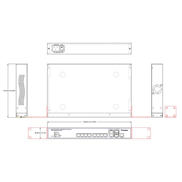 Geovision GV-POE0812 8-Port Gigabit Fully Managed PoE Switch
