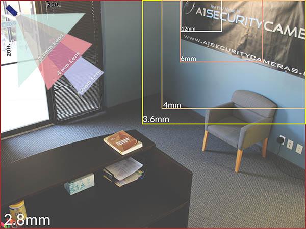LTS CMHT2023T 2.1MP HD-TVI Turret Security Camera - 2.8~12mm Varifocal Lens, HD 1080p, True Day/Night, 100ft IR, Weatherproof