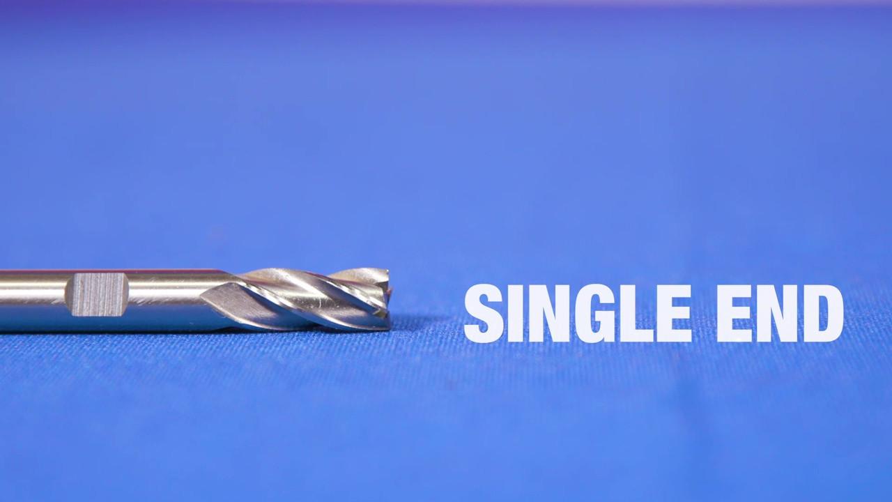 "DWCF349 1-1//4/"" X 3//4/"" HSS 4 Flute Single End End Mill Qualtech"
