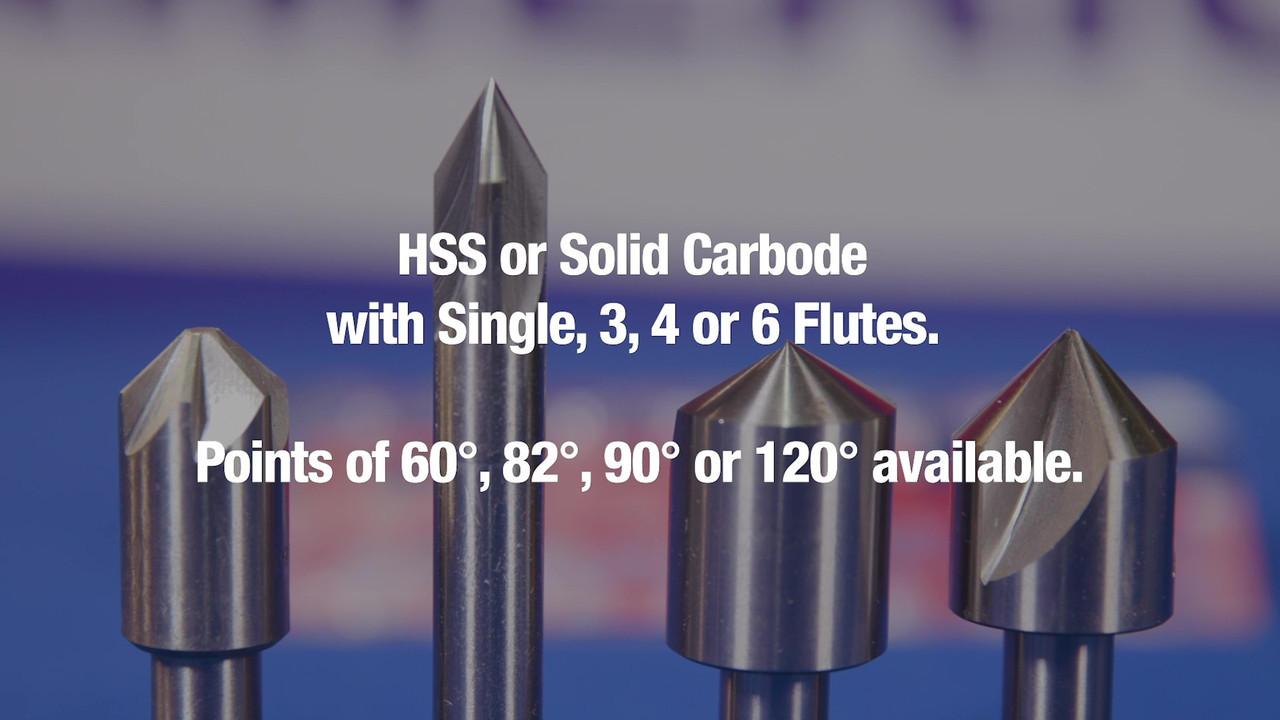 DMO Series Drill America 3//4 Carbide 6 Flute 82 Degree Countersink